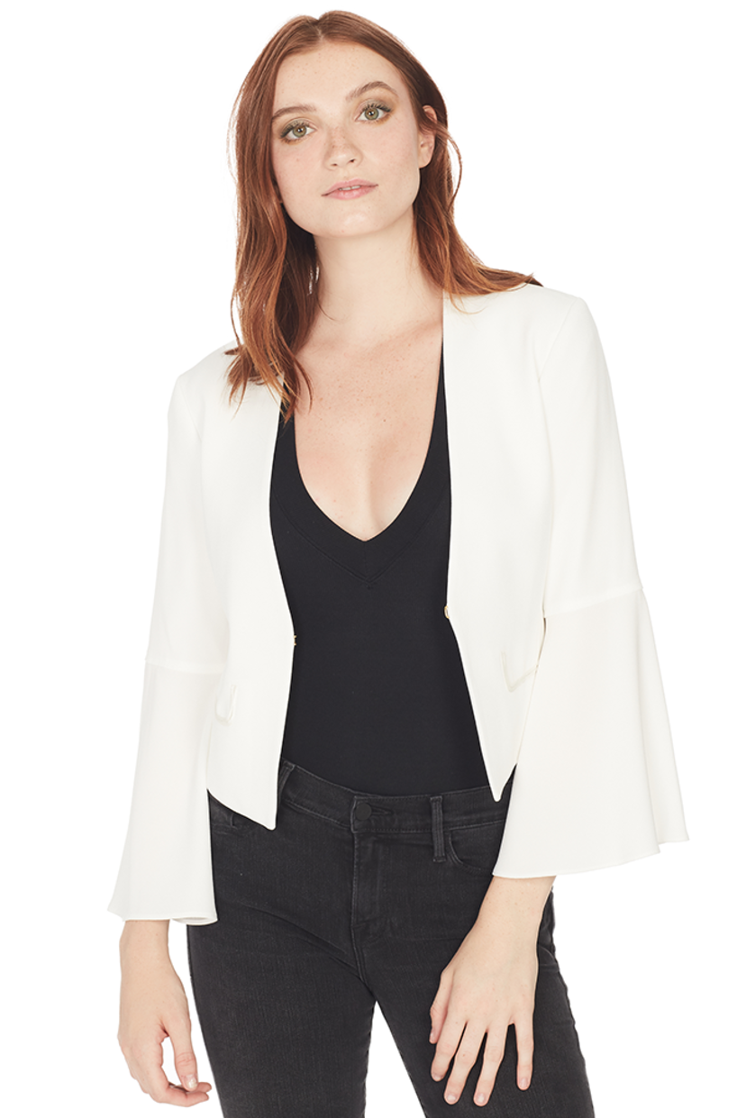 Derek Lam Cropped Bell Sleeve Jacket