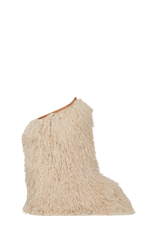 Saint Laurent Goat Fur Snow Boot Shoes