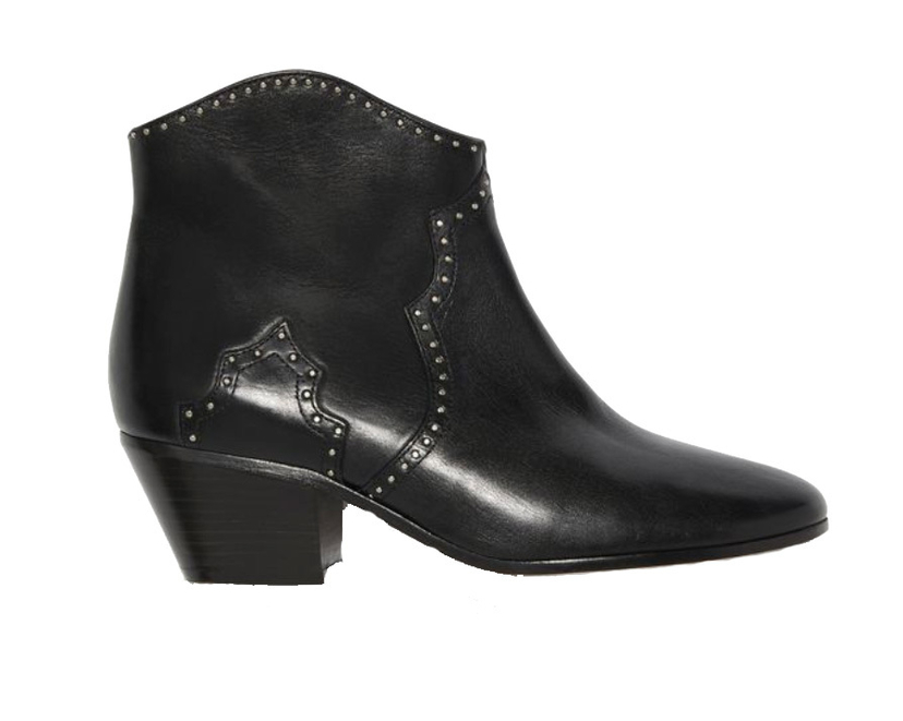 Isabel Marant Étoile Black Studded Dicker Ankle Boots Shoes