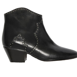 Black Studded Dicker Ankle Boots