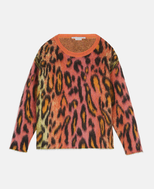 Stella McCartney Stella McCartney Neon Leopard Print Sweater Tops