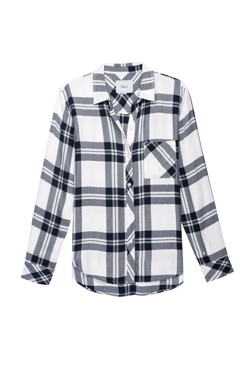 Rails Hunter Top in White Navy Forest Tops