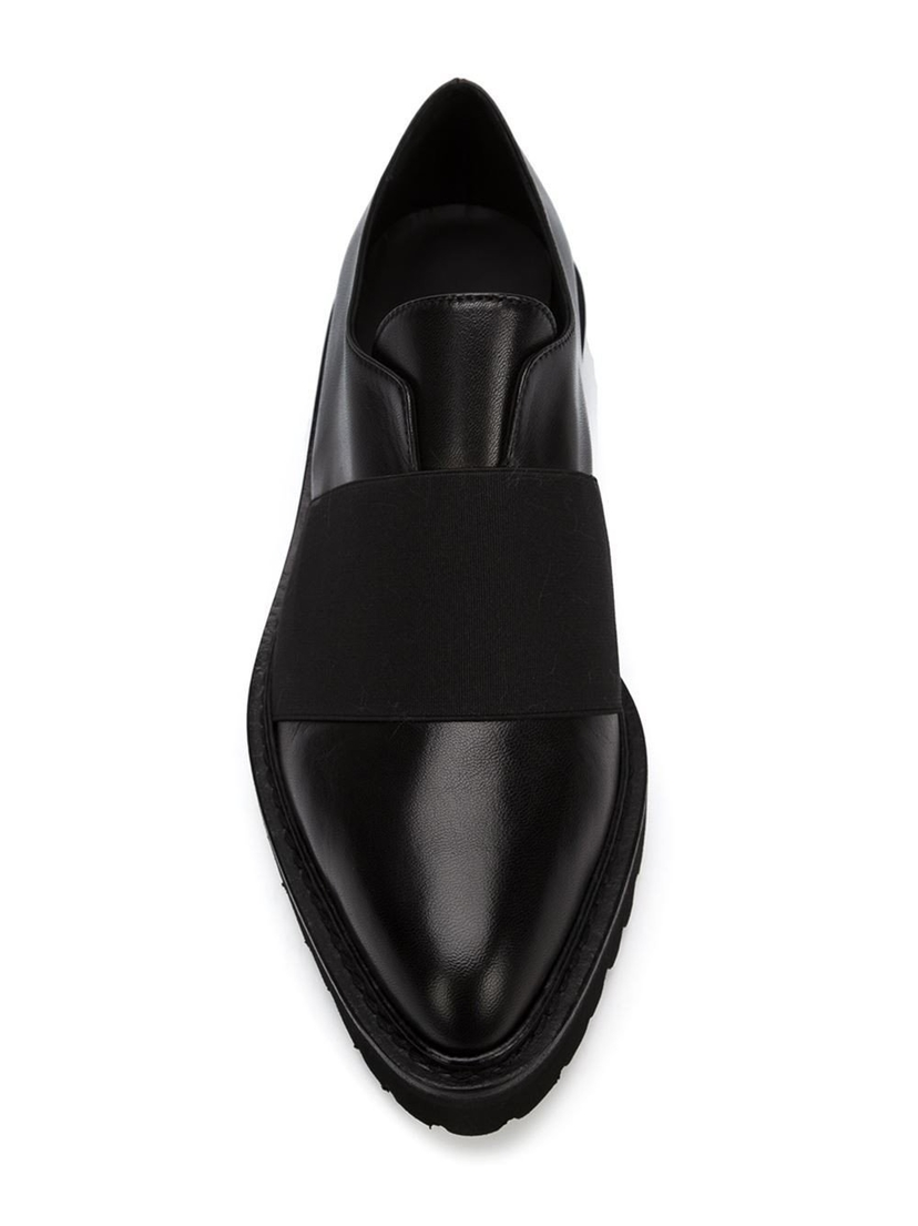 A.F. Vandevorst Pointed Toe Loafers in Black Sale Shoes