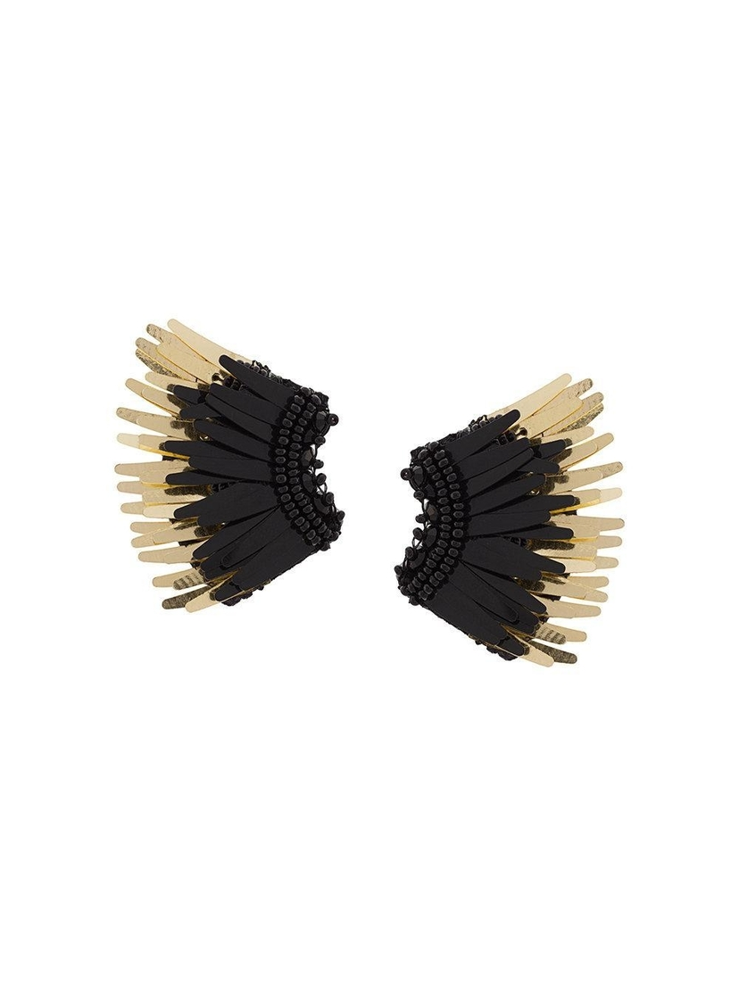 Mignonne Gavigan Mini Madeline Earrings - Black/Gold Jewelry
