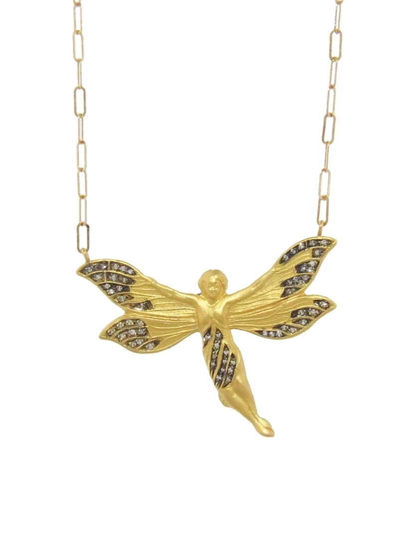 Cathy waterman diamond fairy pendant necklace house account cathy waterman cathy waterman diamond fairy pendant necklace jewelry aloadofball Image collections