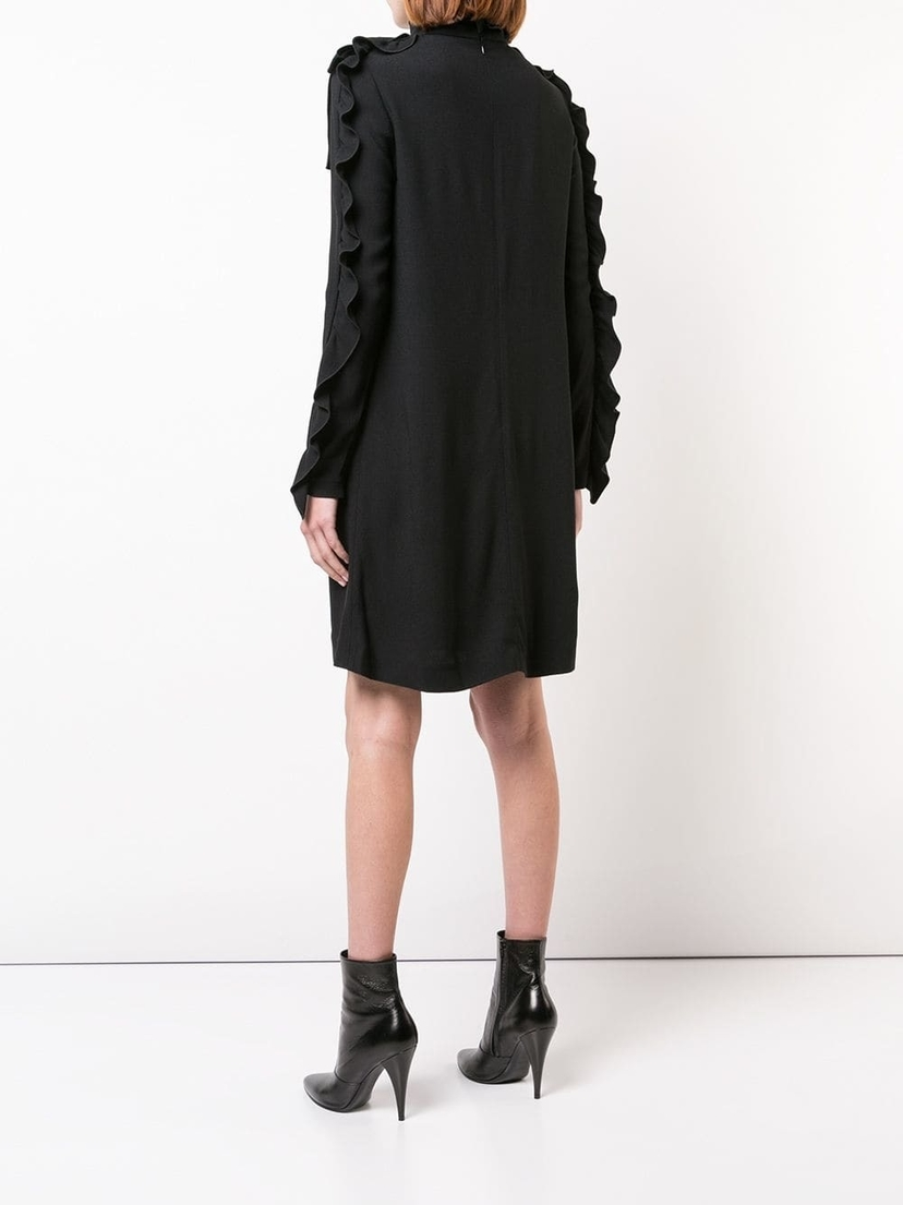 Giambattista Valli Black Long-sleeve Ruffle Dress Dresses
