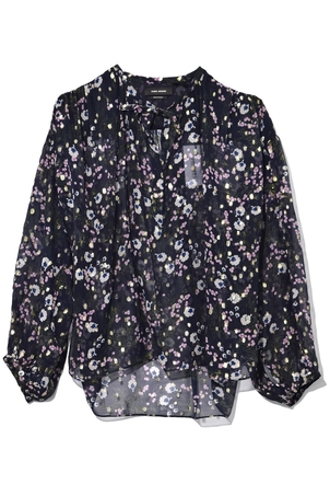 Isabel Marant Mia Top in Midnight Tops