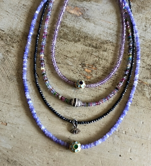 Theodosia Jewelry Purple & Multi Gemstone Necklaces with  Assorted Drops Jewelry