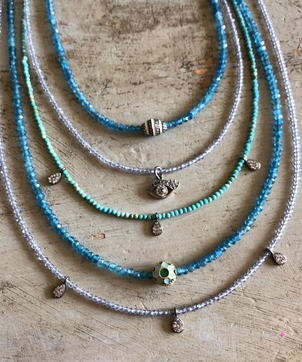 Theodosia Jewelry Blue & Multi Gemstone Necklaces with Assorted Drops Jewelry