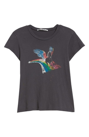 Pam & Gela Unicorn Crew Neck Tee Tops