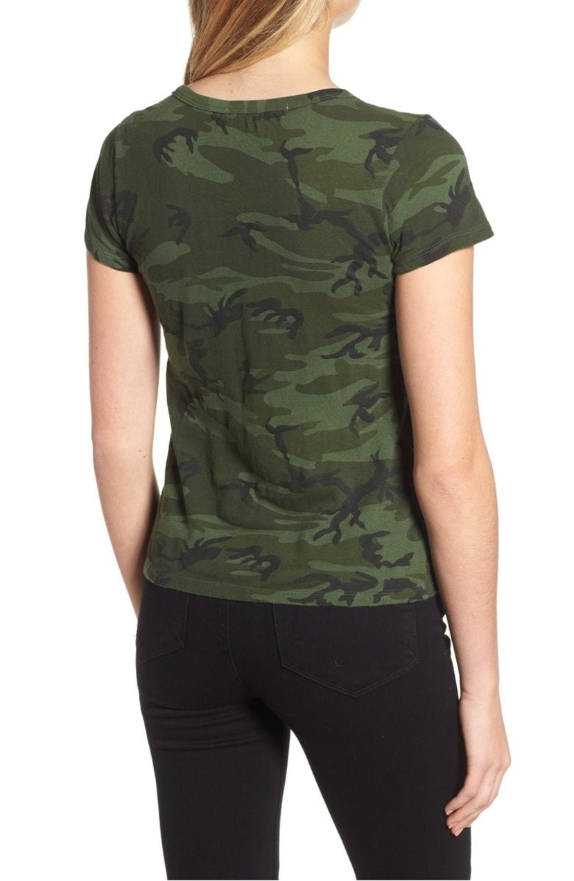 Pam & Gela Camo Short Sleeve Basic Tee Tops