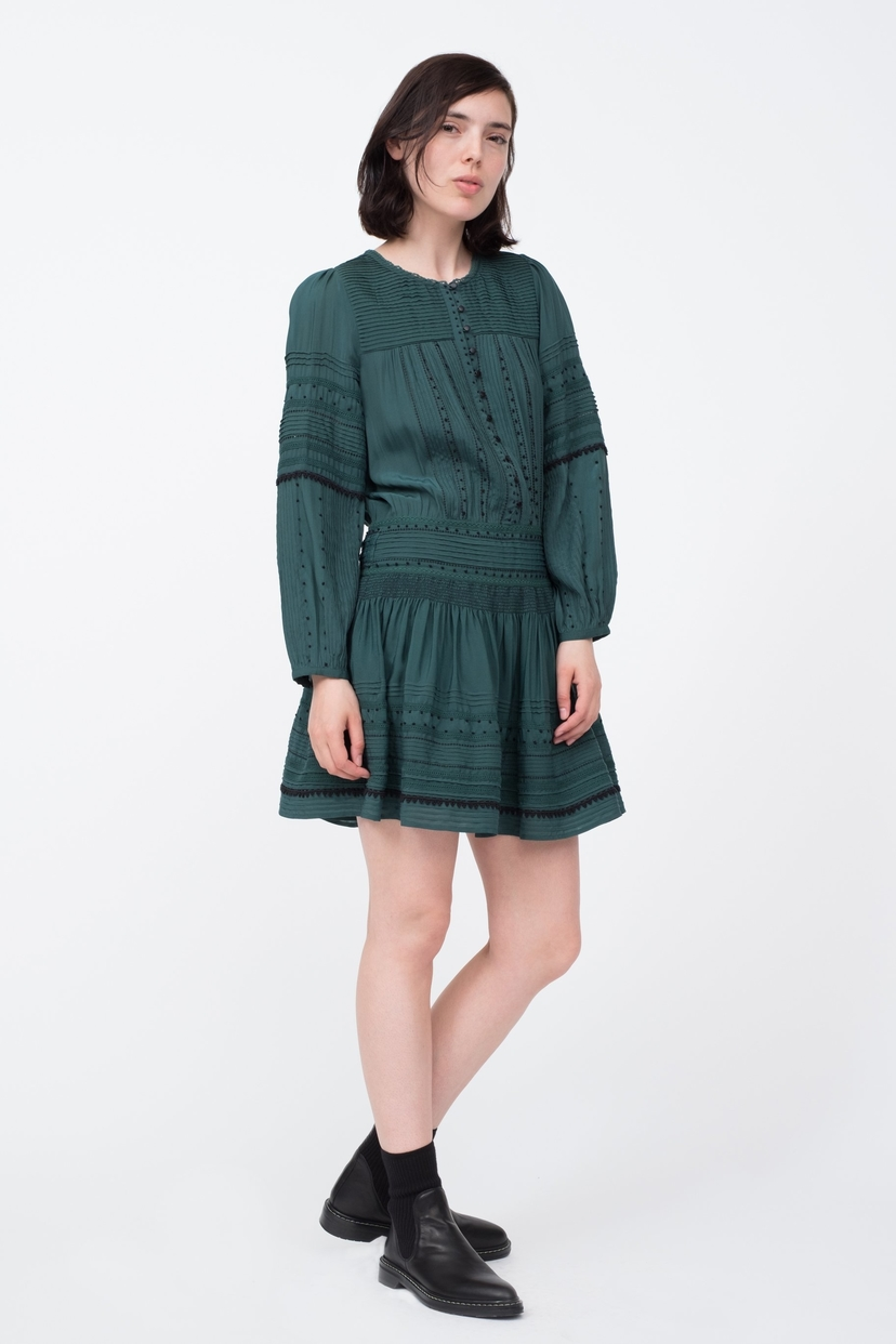 Sea Azzedine Tunic Dress - Forest Green (Originally $445) Dresses Sale Tops
