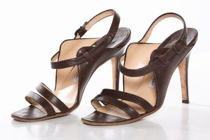 Details about  /Sanche Sandal all Leather Brown New Value 130E Size 36.5