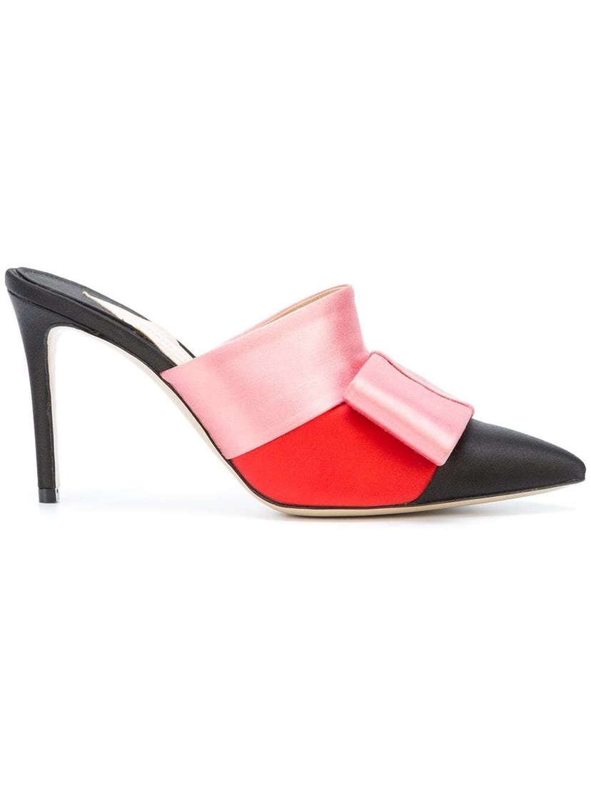 Paul Andrew Satin Bow Mules (Originally $895) Sale Shoes