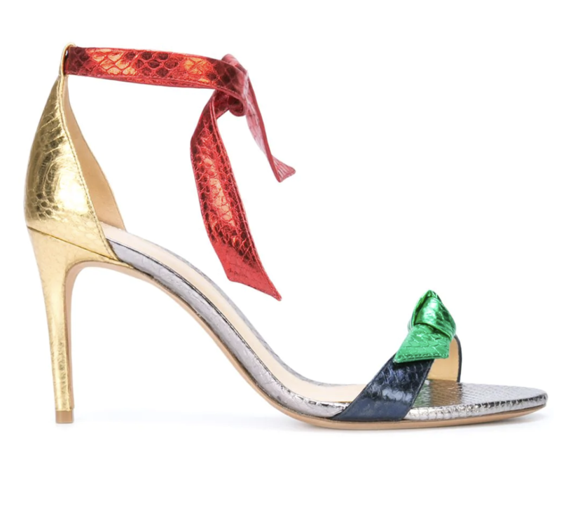 "Alexandre Birman ""Clarita 75"" Multicolored Metallic Heels (Originally $695) Sale Shoes"