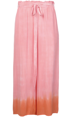 Raquel Allegra Tie Dye Pink and Orange Pants Pants
