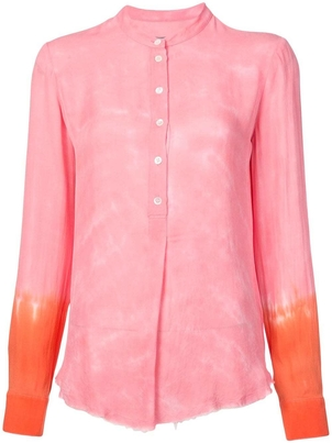 Raquel Allegra Pink and Orange Tie Dye Blouse Tops