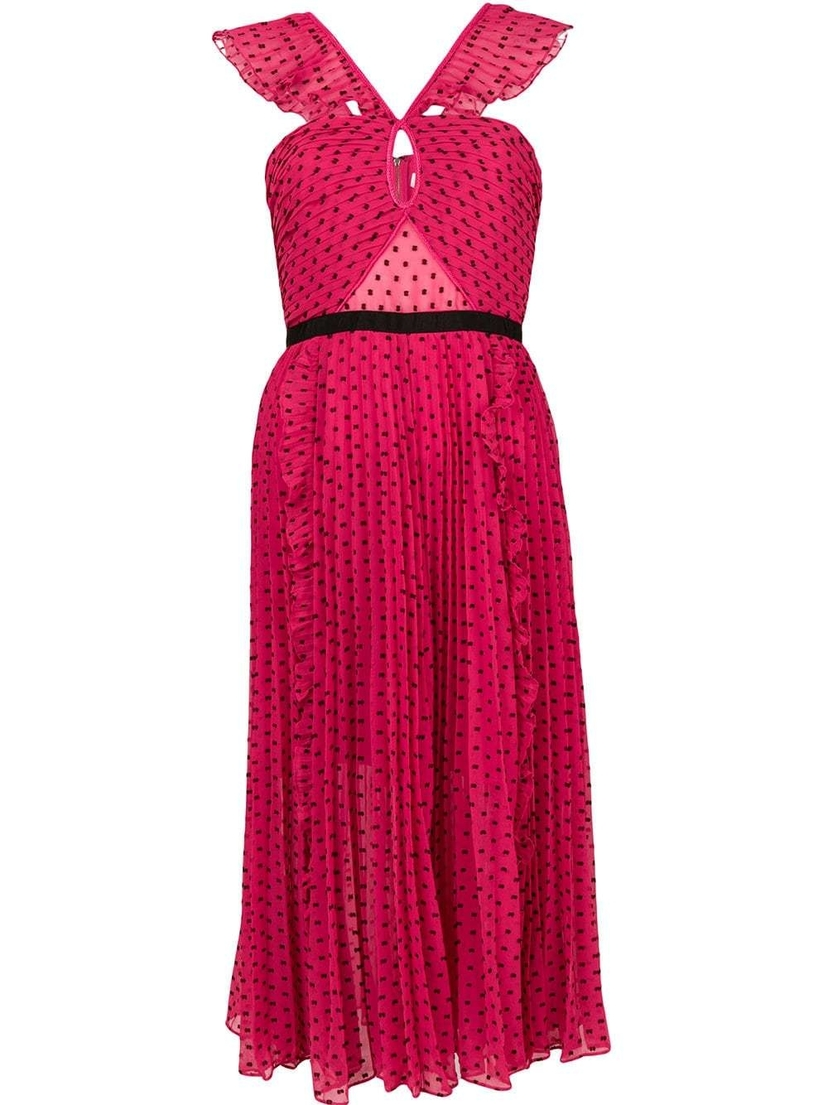 Self-Portrait Fuchsia Midi Dress Dresses