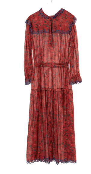 Isabel Marant Étoile Eina Printed Dress in Red Dresses