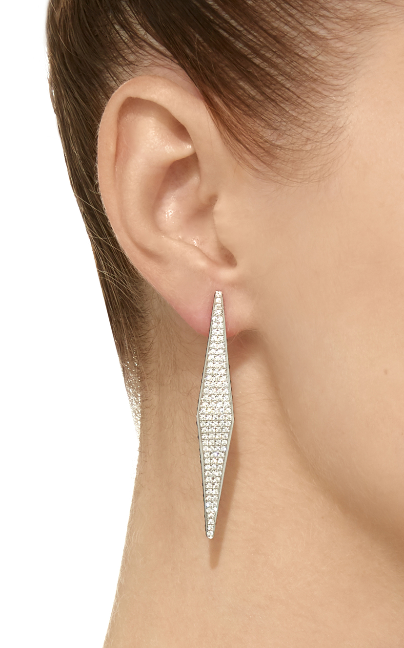 Ralph Masri Modernist Diamond & Sapphire Earrings Jewelry