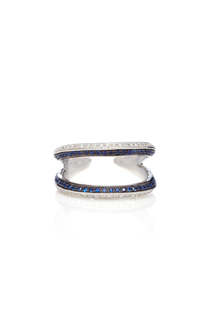 Ralph Masri Diamond & Sapphire Double Ring Jewelry