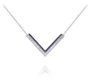 Ralph Masri Modernist Diamond & Sapphire Necklace Jewelry