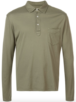 Officine Générale LONG SLEEVE ICE TOUCH POLO Men's