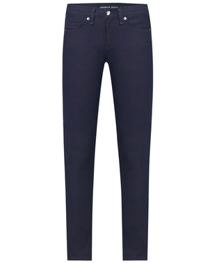 "Veronica Beard Brooke 8.5"" Skinny with Tonal Topstitching Blue Pants"
