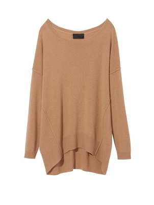 Nili Lotan Finley Sweater in Tan Tops