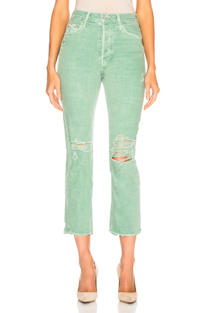 Mother The Tomcat Chew in Mint Green Pants