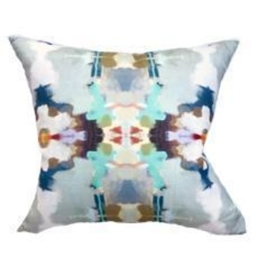 Orchid Blossom Royal Blue Outdoor Pillow House Account