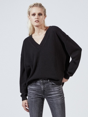 Nili Lotan NILI LOTAN MERLE SWEATER BLACK Tops