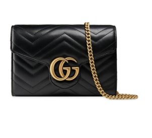 """Gucci """"GG"""" Quilted Black Bag Bags"""