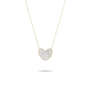 Adina Reyter Tiny Pavé Folded Heart Necklace Jewelry