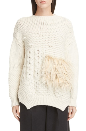 Simone Rocha Patchwork Alpaca Blend Sweater Tops