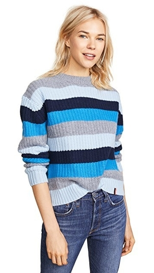 Kule The Denton Sweater - Blue Tops