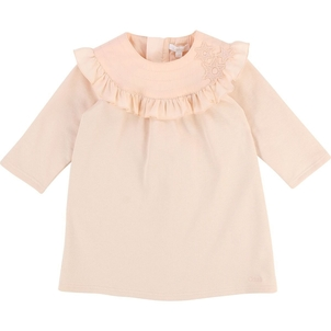 Chloé BABY FLEECE DRESS W/ STAR EMBROIDERY ON YOKE