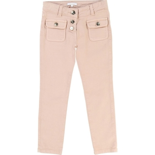 Chloé GIRL DRILL PANTS W/ FRONT PATCH POCKETS