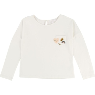 Chloé KGIRL LS T-SHIRT W/ CHEST POCKET AND PATCHES