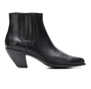 Golden Goose Deluxe Brand Black Leather Slip On Boots Shoes