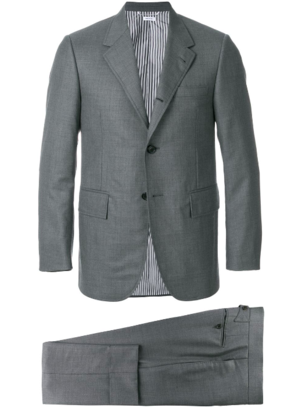 Thom Browne WIDE LAPEL SUIT WITH TIE IN SUPER 120S TWILL Men's