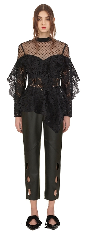 Self-Portrait lace handkerchief top Tops