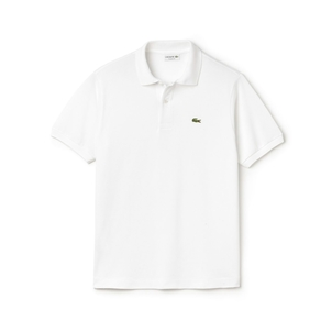Lacoste Classic Fit Polo in White Tops