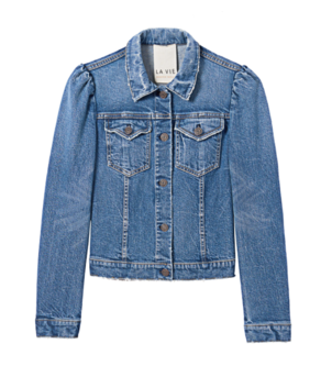 La Vie Rebecca Taylor Denim Jacket in Garconne Wash Outerwear