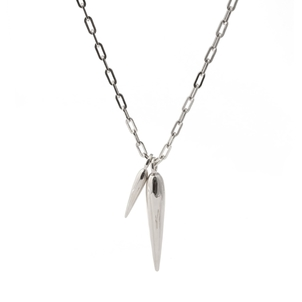 Rahya Beam Charm Elongated Necklace in Silver Accessories Jewelry