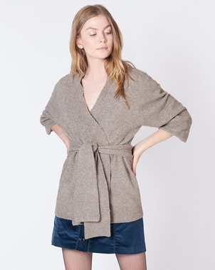 Veronica Beard VERONICA BEARD ESTELLA CARDIGAN LIGHT BROWN Tops