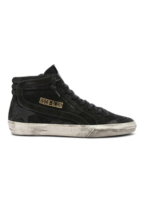 Golden Goose Deluxe Brand Golden Goose black suede 'slide' hi-top Shoes
