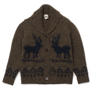 BONTON Cardigan Deer Brown Ebony