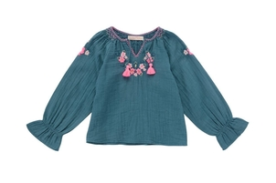 Louise Misha Oza Blouse Green Blue