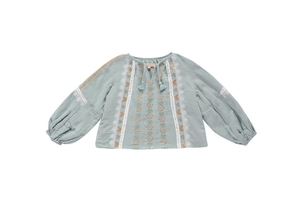 Louise Misha Sokiov Blouse Silver Cloud